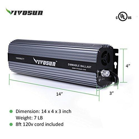 Image of Vivosun 1000 Watt Dimmable Digital Ballast