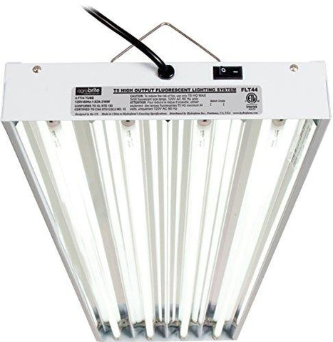 Image of Hydrofarm Agrobrite 4 Foot 4 Tube T5 Fluorescent Fixture