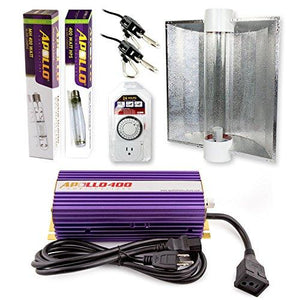 Apollo Horticulture 400 Watt HPS and MH Air Cool Tube Hood Kit
