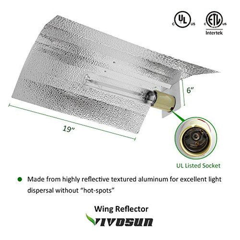 Image of Vivosun 600 Watt HPS and MH Wing Reflector Kit