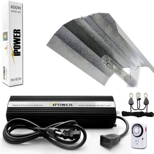 iPower 400 Watt HPS Only Wing Reflector Grow Light Kit