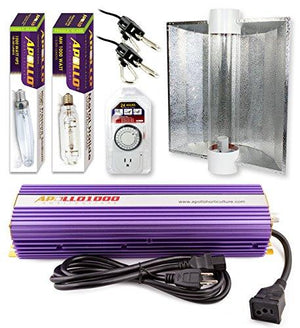 Apollo Horticulture 1000 Watt HPS and MH Air Cool Tube Hood Kit