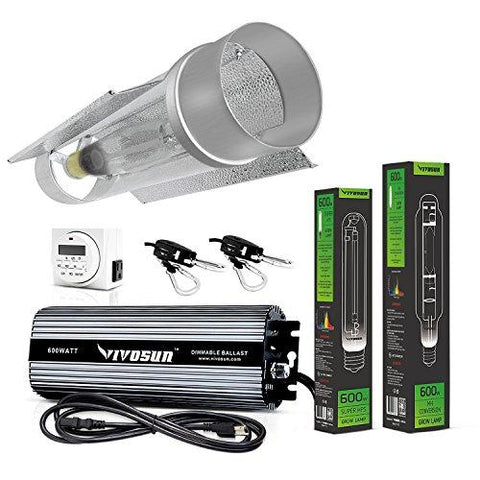 Image of Vivosun 600 Watt HPS and MH Cool Tube Reflector Kit