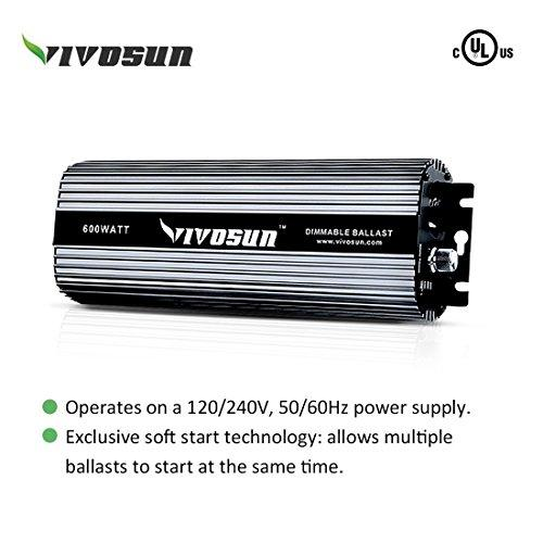 Vivosun 600 Watt HPS and MH Cool Tube Reflector Kit