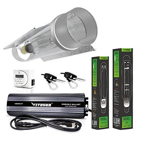Image of Vivosun 1000 Watt HPS and MH Cool Tube Reflector Kit