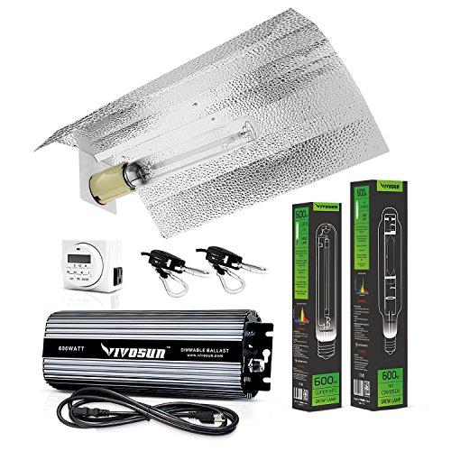 Vivosun 600 Watt HPS and MH Wing Reflector Kit