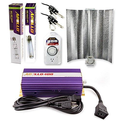 Apollo Horticulture 400 Watt HPS and MH Gull Wing Reflector Kit