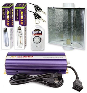 Apollo Horticulture 600 Watt HPS and MH Air Cool Hood Kit