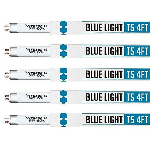 Image of Vivosun T5 Fluorescent 4 Foot 6500K Grow Light Tube 5 Pack