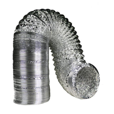 6 Inch By 25 Foot Dual Layer Foil Ducting Ventilation