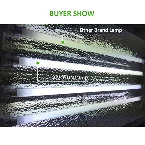 Vivosun T5 Fluorescent 4 Foot 3000K Grow Light Tube 5 Pack