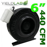 Yield Lab 6 Inch 440 CFM Air Duct Fan