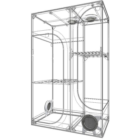 Secret Jardin Lodge 100 3-In-1 Grow Tent (3 x 2 Feet)