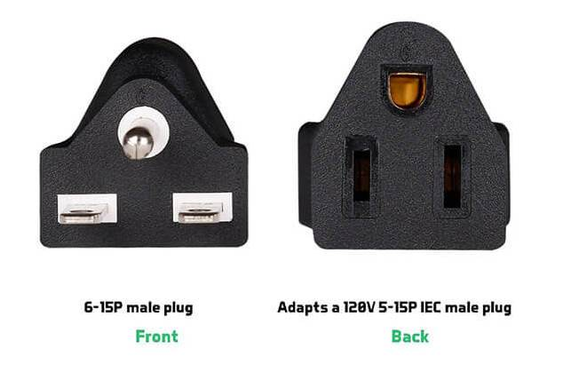Scynce NEMA 240V Plug (6-15 Adapter Or 6-20 Re-plug)