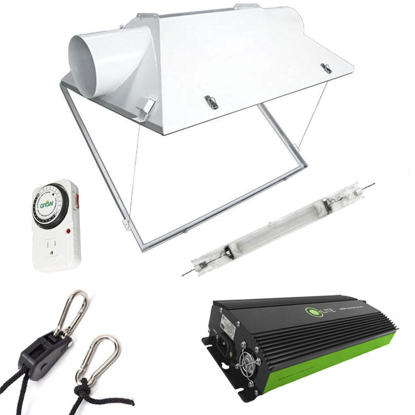 Triple X2 Double-Ended Cool Hood 600 Watt HPS Grow Light Kit