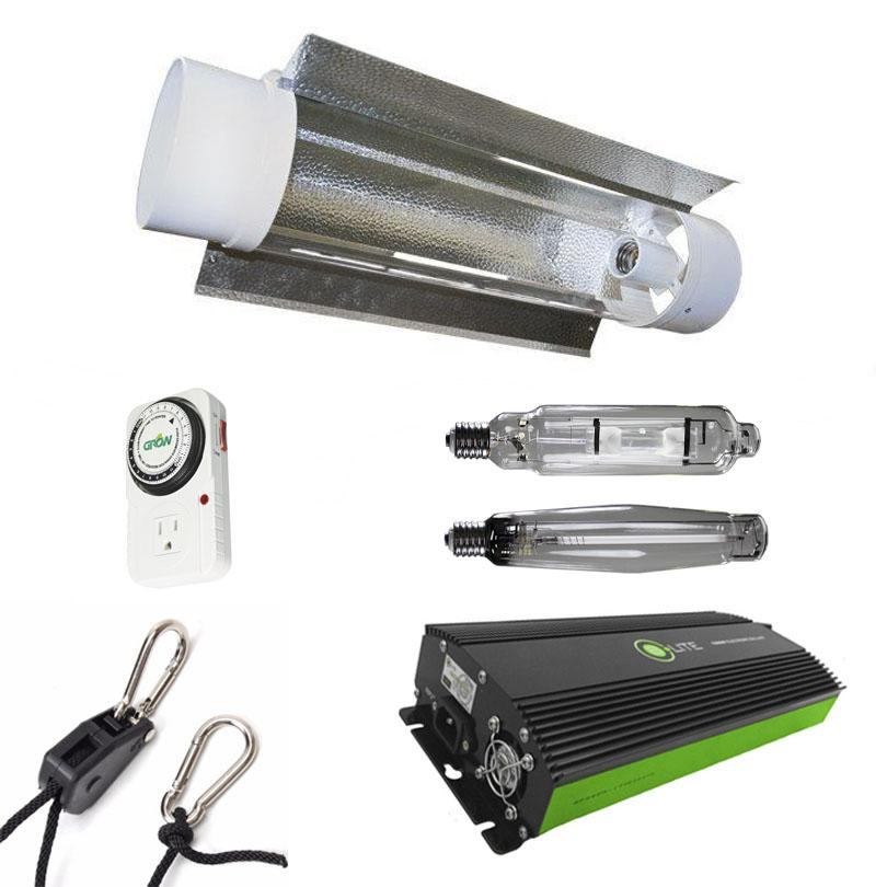 Air-Cooled Tube 1000 Watt HPS & MH Grow Light Kit