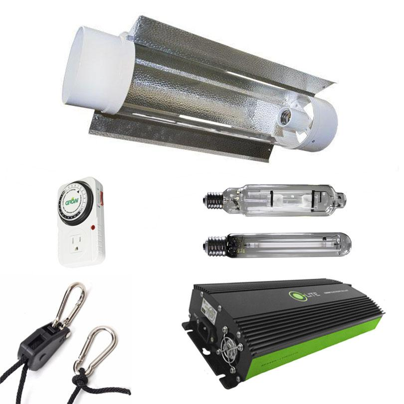 Air-Cooled Tube 600 Watt HPS & MH Grow Light Kit