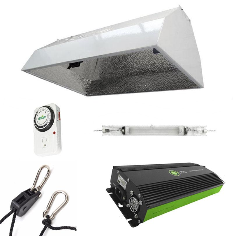 Budget Double-Ended Hood 600 Watt HPS Grow Light Kit