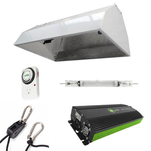 Image of Budget Double-Ended Hood 600 Watt HPS Grow Light Kit