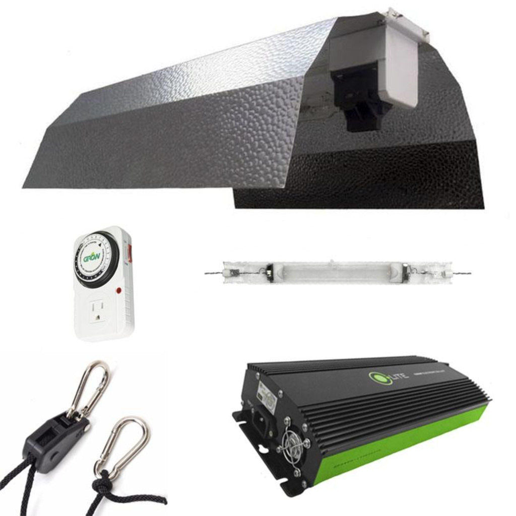 Budget Double-Ended Wing 1000 Watt HPS Grow Light Kit