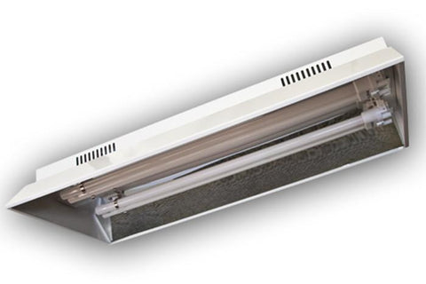 Image of Dual 55 Watt T5 Fluorescent Fixture With Bulbs