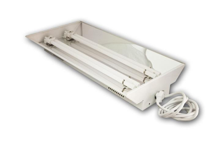 Dual 55 Watt T5 Fluorescent Fixture With Bulbs (6400K)