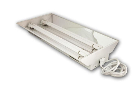 Image of Dual 55 Watt T5 Fluorescent Fixture With Bulbs (6400K)
