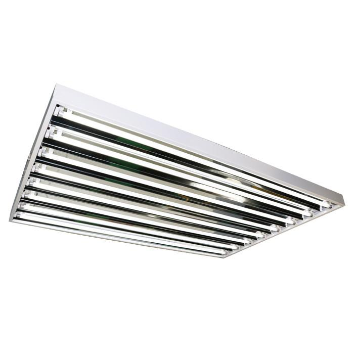 Lightech 4 Foot 8 Bulb T5 Fluorescent Fixture With Flower Bulbs