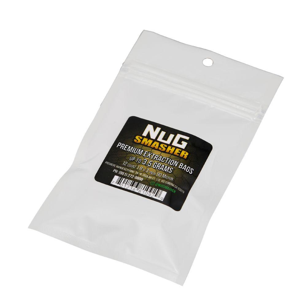 NugSmasher 14 Gram Rosin Extraction Bags - Pack of 12 (37, 90, 120 or 160 micron)