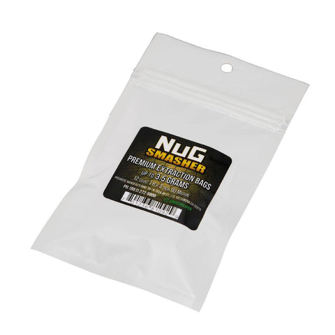 NugSmasher 3.5 Gram Rosin Extraction Bags - Pack of 12 (90, 120 or 160 micron)
