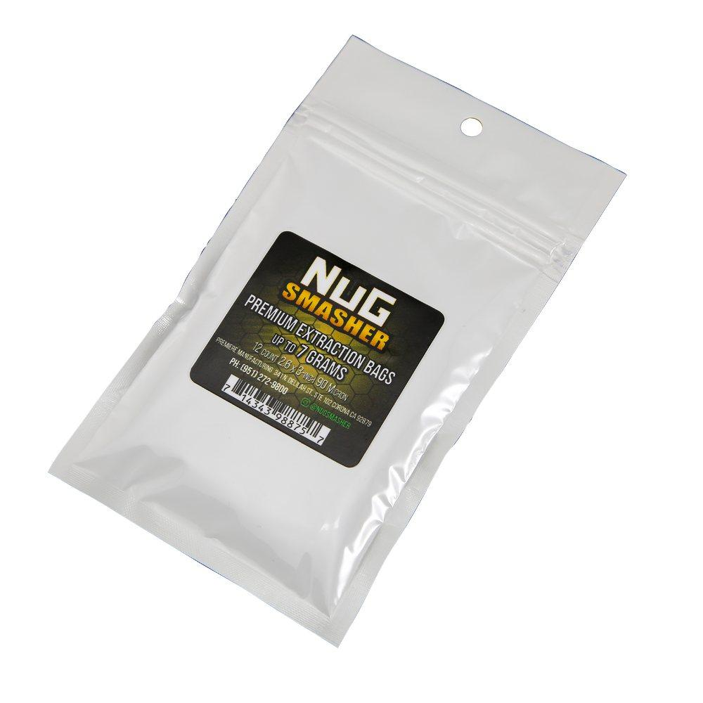 NugSmasher 7 Gram Rosin Extraction Bags - Pack of 12 (37, 90, 120 or 160 micron)