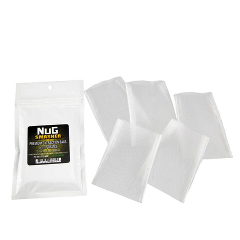 NugSmasher 7 Gram Rosin Extraction Bags - Pack of 12 (90, 120 or 160 micron)