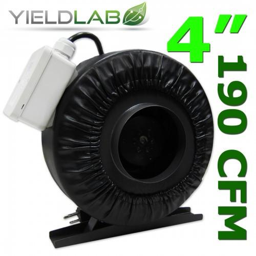 Yield Lab 4 Inch 190 CFM Air Duct Fan
