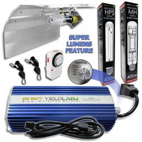 Image of Yield Lab 400 Watt HPS and MH Wing Reflector Grow Light Kit