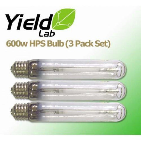 Yield Lab 600 Watt HPS Grow Light Bulb 3 Pack