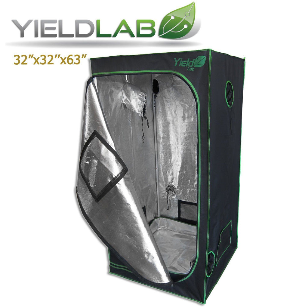 "Yield Lab 32"" by 32"" by 63"" Reflective Grow Tent"