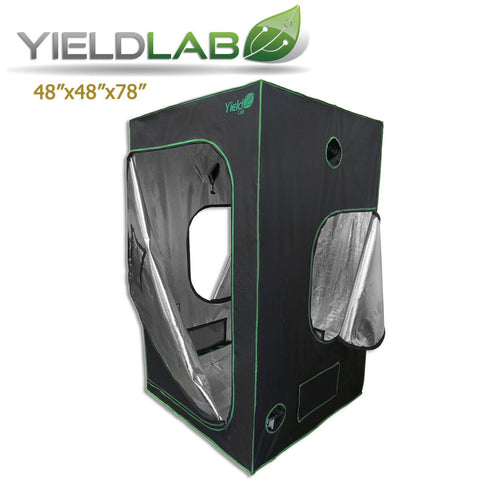 "Yield Lab 48"" by 48"" by 78"" Reflective Grow Tent"