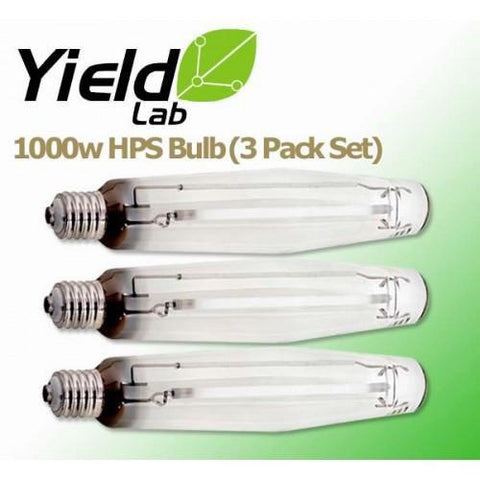 Yield Lab 1000 Watt HPS Grow Light Bulb 3 Pack