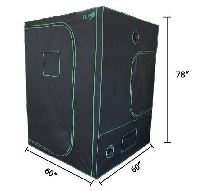 "Yield Lab 60"" by 60"" by 78"" Reflective Grow Tent"