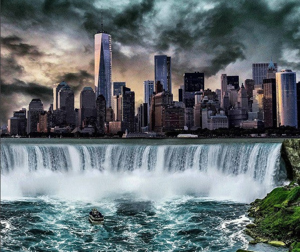 Photo Manipulation Tutorial - Waterfall City