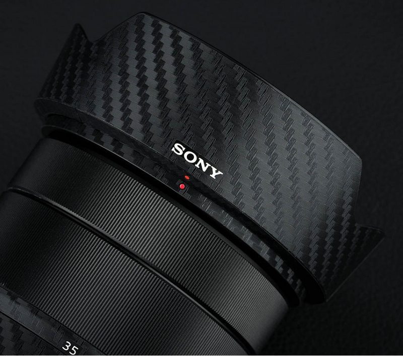 """Carbon Fiber"" Lens Protector Skin for Sony Lenses - Osiris & Co."