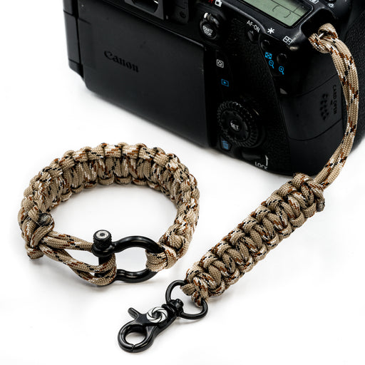 """Desert Fox"" Camera Strap System Black Hardware - Osiris & Co."