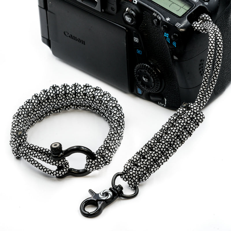 """Diamond"" Camera Strap System Black Hardware - Osiris & Co."