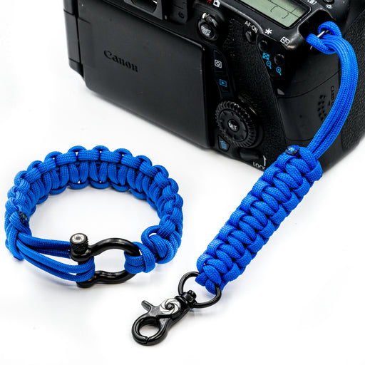 """Blue"" Camera Strap System Black Hardware - Osiris & Co."