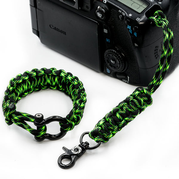 """Poison"" Camera Strap System Black Hardware - Osiris & Co."