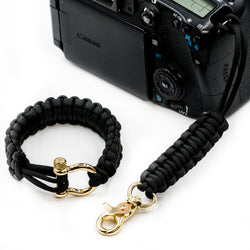 """Black"" Camera Strap System Gold Hardware - Osiris & Co."