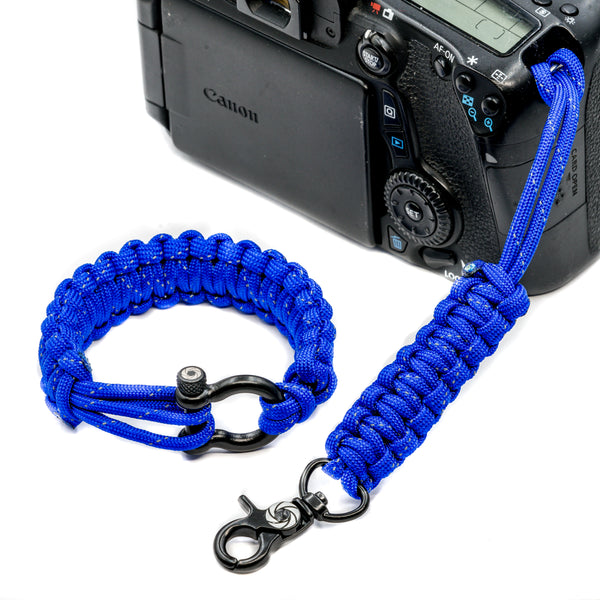 """Poseidon"" *Reflective Tracer* Camera Strap System Black Hardware - Osiris & Co."