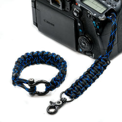 """Blue Knight "" Camera Strap System Black Hardware - Osiris & Co."