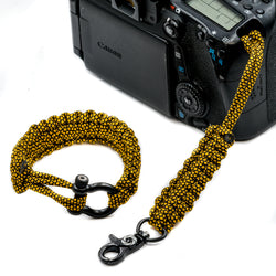 """Golden Diamond"" Camera Strap System Black Hardware - Osiris & Co."