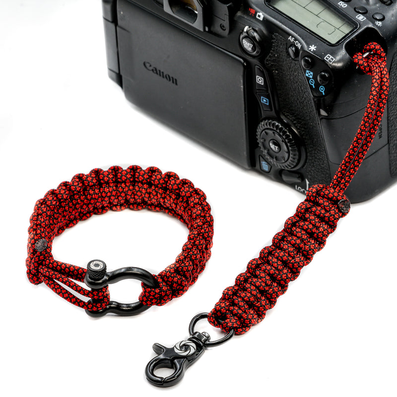 """Red Diamond"" Camera Strap System Black Hardware - Osiris & Co."